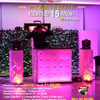 Fiesta de 15 años - Paquete Elite - Cartagena